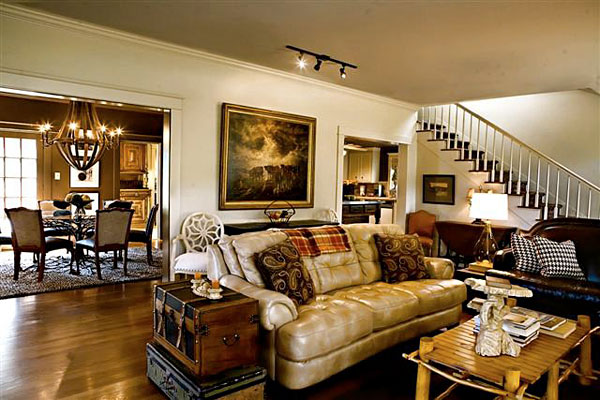 How to decorate livingroom with western theme house furniture - Home decor texas ideas ...